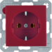 47431912 SCHUKO socket outlet Berker S.1/B.3/B.7, red matt