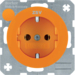 "47432007 SCHUKO socket outlet ""ZSV"" imprint Berker R.1/R.3/R.8, orange glossy"