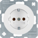 47432089 SCHUKO socket outlet Berker R.1/R.3, polar white glossy