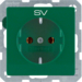 "47436003 SCHUKO socket outlet with ""SV"" imprint green velvety"