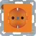 47438914 SCHUKO socket outlet Berker S.1/B.3/B.7, orange glossy