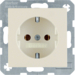 47438982 SCHUKO socket outlet Berker S.1, white glossy