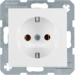 47438989 SCHUKO socket outlet polar white glossy