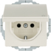 47446082 SCHUKO socket outlet with hinged cover with enhanced touch protection