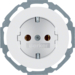 47452089 SCHUKO socket outlet Mounting orientation variable in 45° steps,  Serie R.classic,  polar white glossy