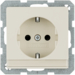 47496082 SCHUKO socket outlet with labelling field,  with enhanced touch protection