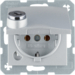 47631404 SCHUKO socket outlet with hinged cover Lock - differing lockings,  Berker B.7, aluminium,  matt,  lacquered