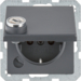 47636086 SCHUKO socket outlet with hinged cover Lock - differing lockings,  Berker Q.1/Q.3/Q.7/Q.9