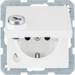 47636089 SCHUKO socket outlet with hinged cover Lock - differing lockings,  Berker Q.1/Q.3/Q.7/Q.9