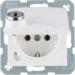 47638989 SCHUKO socket outlet with hinged cover Lock - differing lockings,  Berker S.1/B.3/B.7