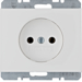 6167157009 Socket outlet without earthing contact Berker K.1, polar white glossy