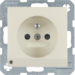 6765108982 Socket outlet with earthing pin and LED orientation light enhanced contact protection,  Screw-in lift terminals,  Berker S.1, white glossy