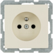 6765766082 with enhanced touch protection,  with screw-in lift terminals,  Berker Q.1/Q.3