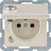 6768116082 Socket outlet with earthing pin and hinged cover with lock - differing lockings,  Berker Q.1