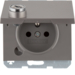 6768117004 Socket outlet with earthing pin and hinged cover with lock - differing lockings,  Berker K.1/K.5