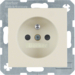 6768768982 Socket outlet with earthing pin with enhanced touch protection,  Berker S.1, white glossy