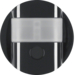 85345131 KNX radio motion detector comfort 1.1 m quicklink Berker R.1/R.3/Serie 1930/R.classic,  black glossy