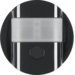 85346131 KNX radio motion detector comfort 2.2 m quicklink Berker R.1/R.3/Serie 1930/R.classic,  black glossy