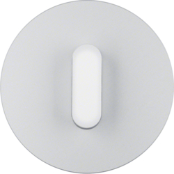 10012074 Cover plate with toggle for rotary switch/spring-return push-button Serie R.classic,  Aluminium/polar white,  luminium anodised