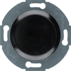 100921 Blind plug with centre plate black glossy