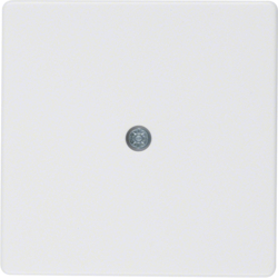 10196089 Centre plate for cable outlet polar white velvety