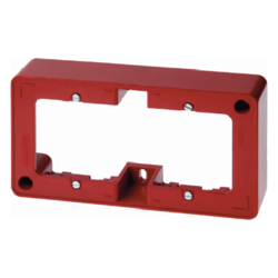10300062 Frame 2gang surface-mounted Surface-mounted accessories,  red glossy