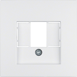 10331909 Centre plate with TAE cut-out knock out,  polar white matt