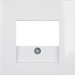 10338919 Centre plate with TAE cut-out polar white glossy