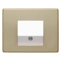 10340002 Centre plate with TAE cut-out Berker Arsys,  gold matt,  aluminium anodised