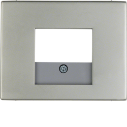 10357004 Centre plate with TAE cut-out Berker K.5, stainless steel,  metal matt finish