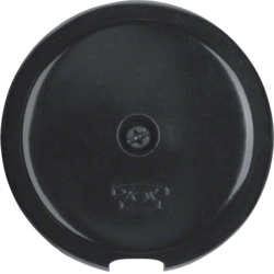 103701 Centre plate for cable outlet black glossy