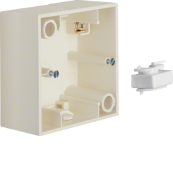 10418982 Surface-mounted housing 1gang Berker S.1, white glossy
