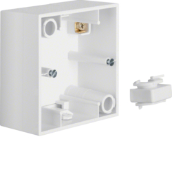 10418989 Surface-mounted housing 1gang Berker S.1, polar white glossy