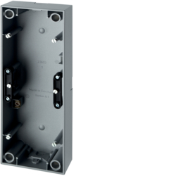 10439939 Surface-mounted housing 3gang Berker S.1, aluminium matt