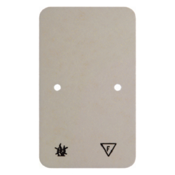 105340 Base plate self-extinguishing for double socket outlet Surface-mounted accessories,  white