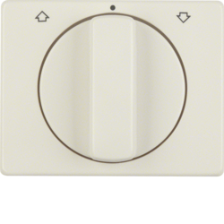 10770002 Centre plate with rotary knob for rotary switch for blinds Berker Arsys,  white glossy