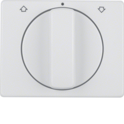 10770069 Centre plate with rotary knob for rotary switch for blinds Berker Arsys,  polar white glossy