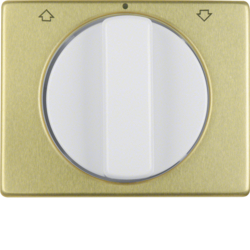 10770102 Centre plate with rotary knob for rotary switch for blinds Berker Arsys,  gold/polar white,  matt/glossy,  aluminium anodised
