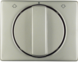 10770104 Centre plate with rotary knob for rotary switch for blinds Berker Arsys,  stainless steel,  metal matt finish