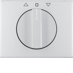10777103 Centre plate with rotary knob for rotary switch for blinds Berker K.5, Aluminium,  aluminium anodised