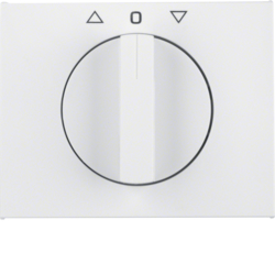 10777109 Centre plate with rotary knob for rotary switch for blinds Berker K.1, polar white glossy