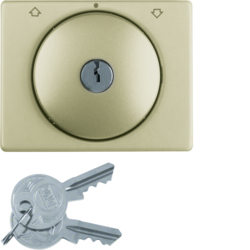 1079710100 Key can be removed in 0 position,  Berker K.5, bronze,  aluminium,  anodised