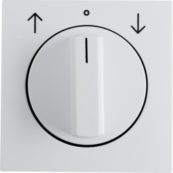 10801909 Centre plate with rotary knob for rotary switch for blinds polar white matt