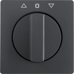 10806086 Centre plate with rotary knob for rotary switch for blinds anthracite velvety,  lacquered