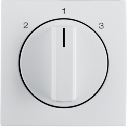 10841909 Centre plate with rotary knob for 3-step switch polar white matt