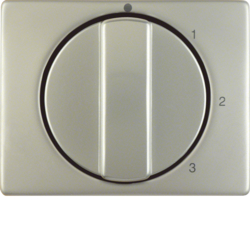 10870104 Centre plate with rotary knob for 3-step switch with neutral-position,  Berker Arsys,  stainless steel,  metal matt finish
