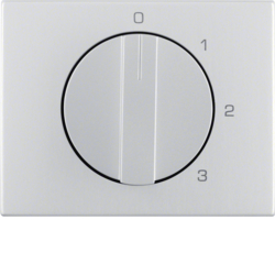 10877103 Centre plate with rotary knob for 3-step switch with neutral-position,  Berker K.5, Aluminium,  aluminium anodised