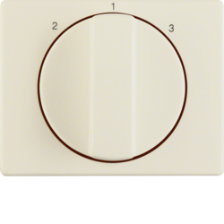 10880002 Centre plate with rotary knob for 3-step switch Berker Arsys,  white glossy