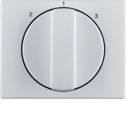 10880069 Centre plate with rotary knob for 3-step switch Berker Arsys,  polar white glossy