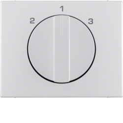 10887103 Centre plate with rotary knob for 3-step switch Berker K.5, Aluminium,  aluminium anodised